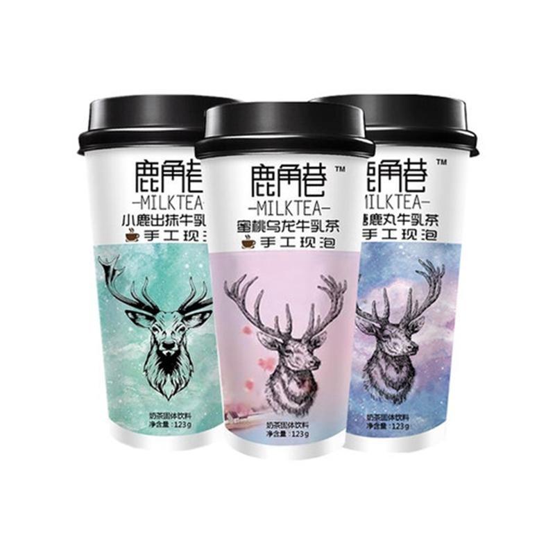 鹿角巷奶茶 小鹿出抹牛乳茶 123g*杯