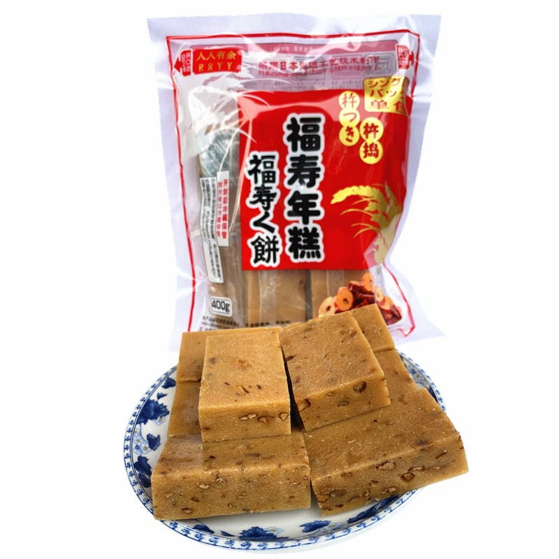 福寿年糕 日式拉丝烤年糕 黑糖红枣味 400g